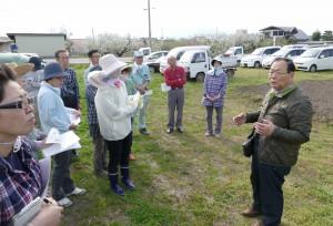 5 種蒔き実習綿花畑に移動