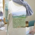 北信五岳と綿畑のTシャツと肌布