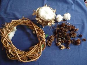 籐と木の実と綿花たち