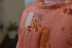 花柄オレンジ肩